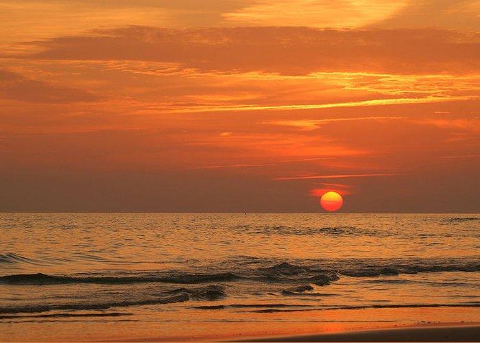 Panama City Beach Greeting Card featuring the photograph Florida Sunset by Sandy Keeton