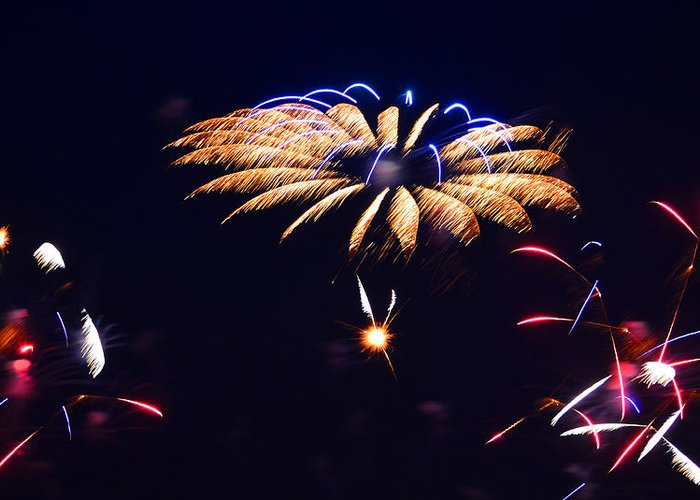 Fireworks Greeting Card featuring the photograph Flower Fireworks by Sandi OReilly