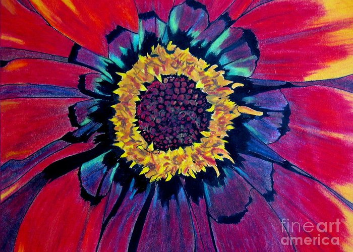 Flower Greeting Card featuring the pastel Flowerburst by Rory Sagner