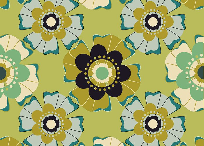 Posters Greeting Card featuring the digital art Flowers 4 by Lisa Noneman