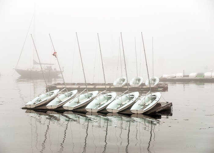 Boat Greeting Card featuring the photograph Fogged In by Bob Orsillo