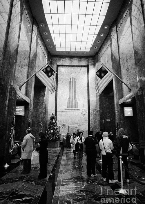 Usa Greeting Card featuring the photograph Foyer Of The Empire State Building New York City by Joe Fox