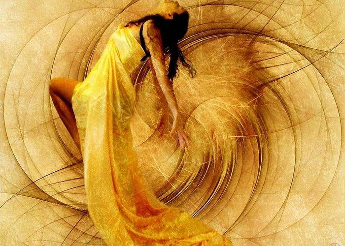 Girl Greeting Card featuring the digital art Fractal Dance Of Joy by Gun Legler