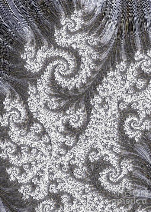 Art Greeting Card featuring the digital art Franciful Frost by Heidi Smith