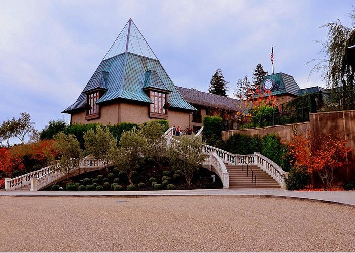 Winery Greeting Card featuring the photograph Francis Ford Coppola Wine Tasting Entrance by Antonia Citrino