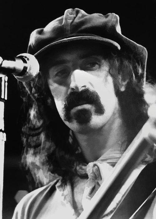 Frank Zappa Greeting Card featuring the digital art Frank Zappa - Watercolor by Joann Vitali