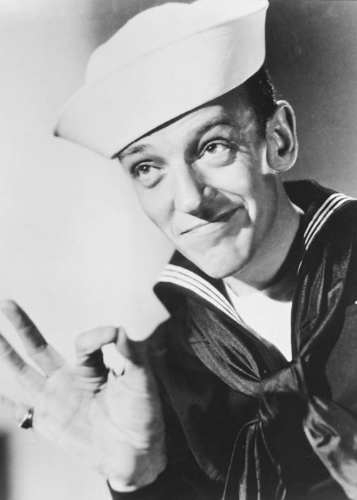 Follow The Fleet Greeting Card featuring the photograph Fred Astaire In Follow The Fleet by Silver Screen