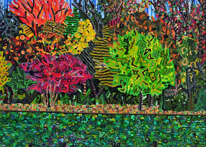 Freedom Park Greeting Card featuring the painting Freedom Park 1 by Micah Mullen