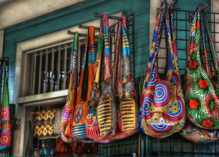 French Quarter Greeting Card featuring the photograph French Market Bags by Brenda Bryant