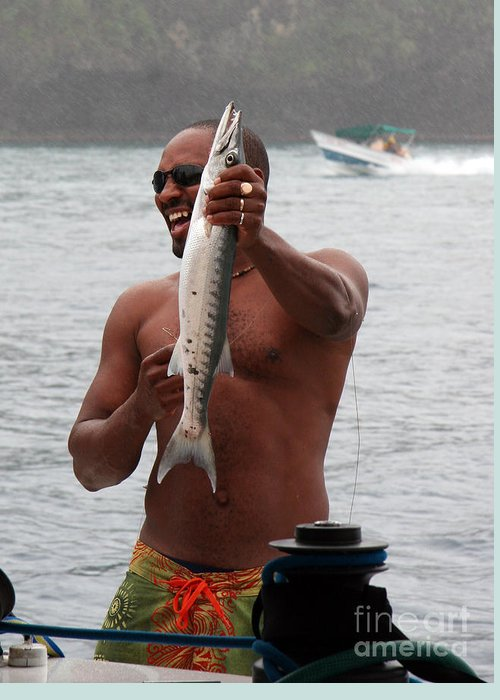 Fisherman Greeting Card featuring the photograph Fresh Catch Of Fish Castries St. Lucia by Jason O Watson
