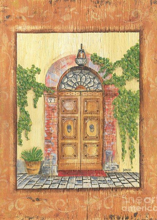 Front Door Greeting Card featuring the painting Front Door 2 by Debbie DeWitt
