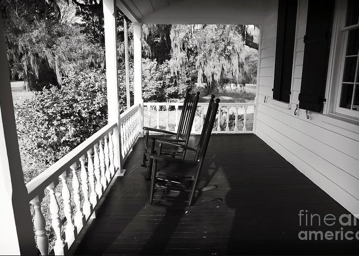 Front Porch Chairs Greeting Card featuring the photograph Front Porch Chairs by John Rizzuto
