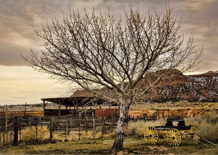 Old West Greeting Card featuring the photograph Frontier by Heather Applegate