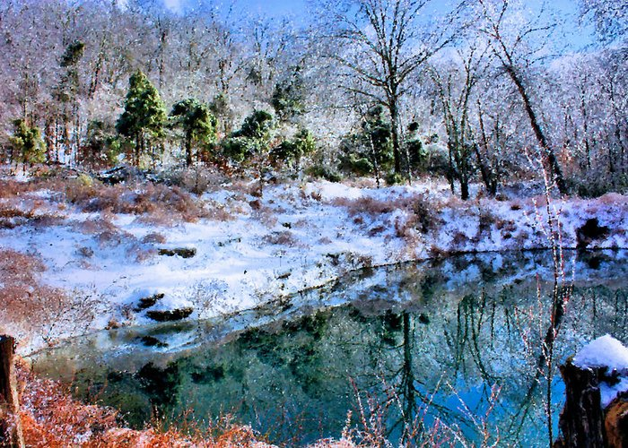 Pond Greeting Card featuring the photograph Frozen by Kristin Elmquist