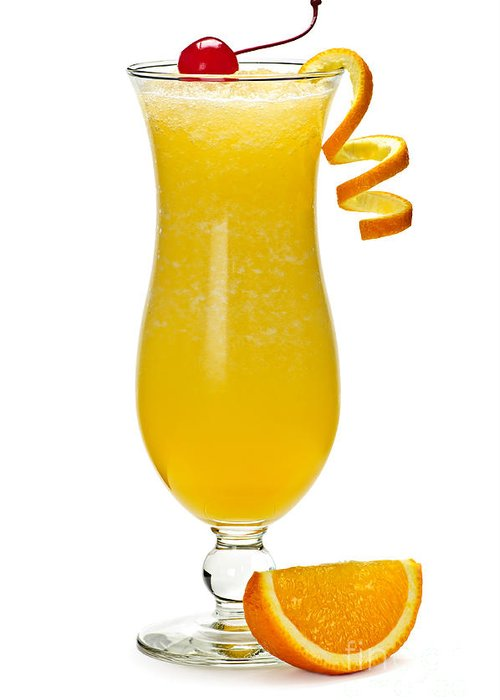 Orange Greeting Card featuring the photograph Frozen Orange Drink by Elena Elisseeva