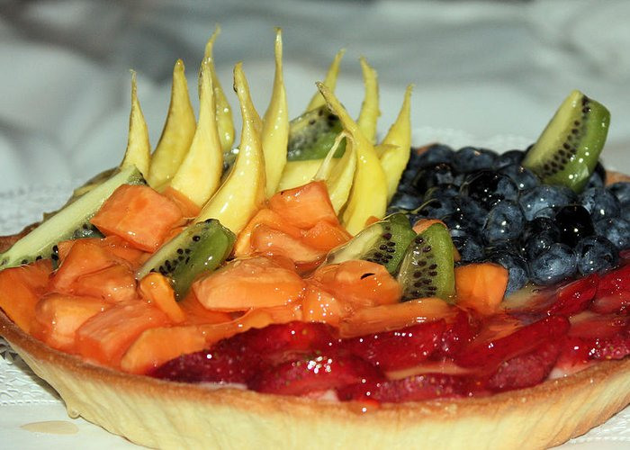 Fruit Tart Greeting Card featuring the photograph Fruit Tart by Kristin Elmquist
