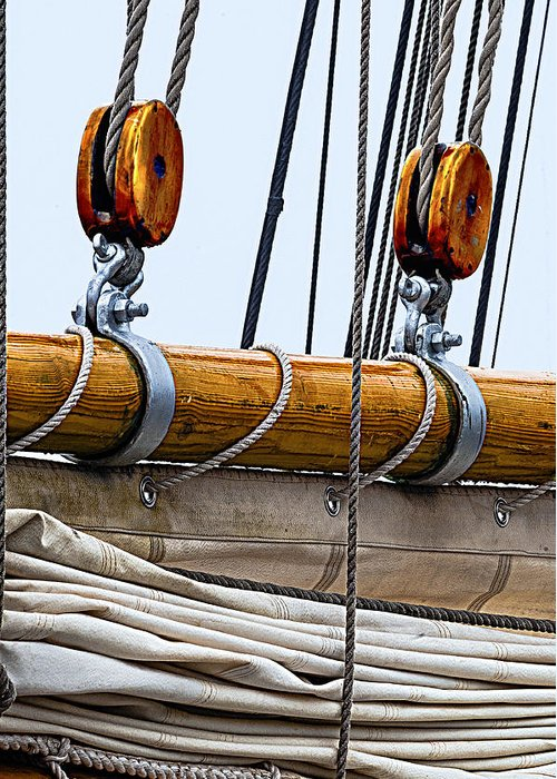 Schooner Greeting Card featuring the photograph Gaff And Mainsail by Marty Saccone