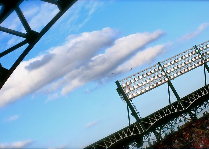 Baseball Greeting Card featuring the photograph Game Day by Jon Berry OsoPorto