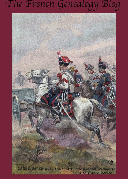 France Greeting Card featuring the photograph Garde Imperiale 1857 With Fgb Border by A Morddel