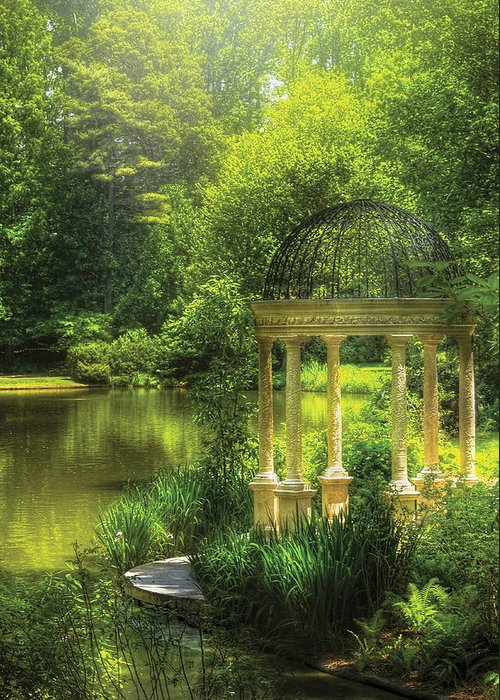 Savad Greeting Card featuring the photograph Garden - The Temple Of Love by Mike Savad