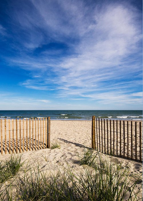 Beach Greeting Card featuring the photograph Gateway To Serenity Myrtle Beach Sc by Stephanie McDowell