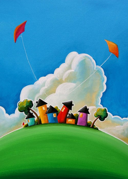 House Greeting Card featuring the painting Gather Round by Cindy Thornton