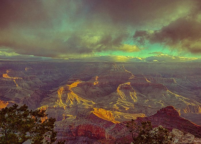 Grand Canyon Greeting Card featuring the photograph Gentle Sunrise Over The Canyon by Lisa Spencer