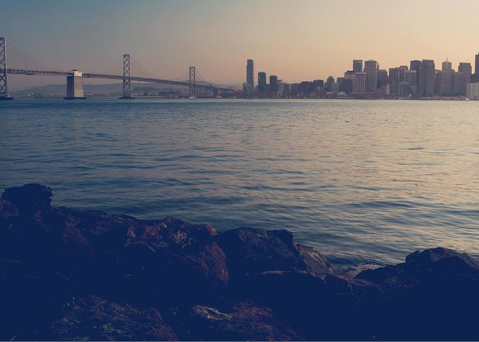 San Francisco Greeting Card featuring the photograph Gently The Evening Comes by Laurie Search