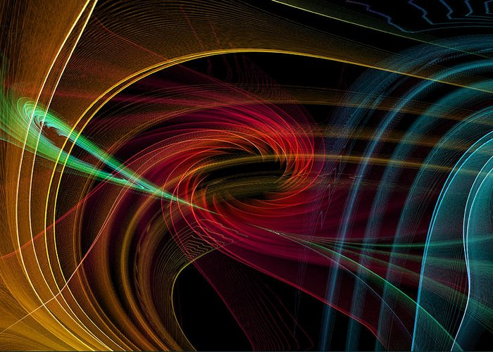 Contemporary Greeting Card featuring the digital art Geometric 8 by Mark Ashkenazi