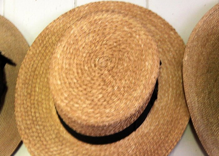 Straw Hat Greeting Card featuring the photograph George Wilcox Hat by Dick Willis