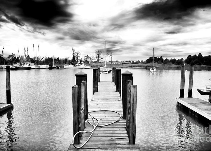 Georgetown Dock Greeting Card featuring the photograph Georgetown Dock by John Rizzuto
