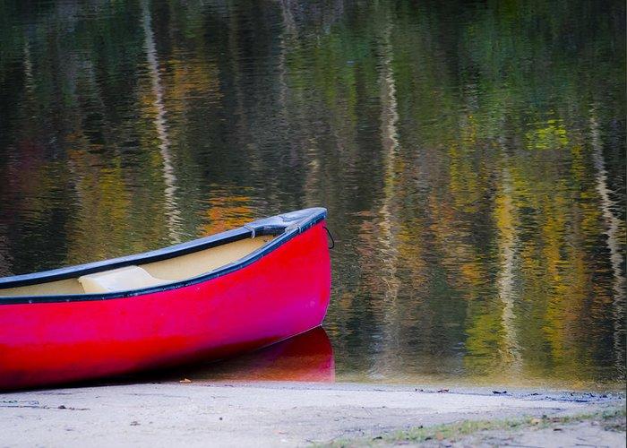 Canoe Greeting Card featuring the photograph Getaway Canoe by Carolyn Marshall
