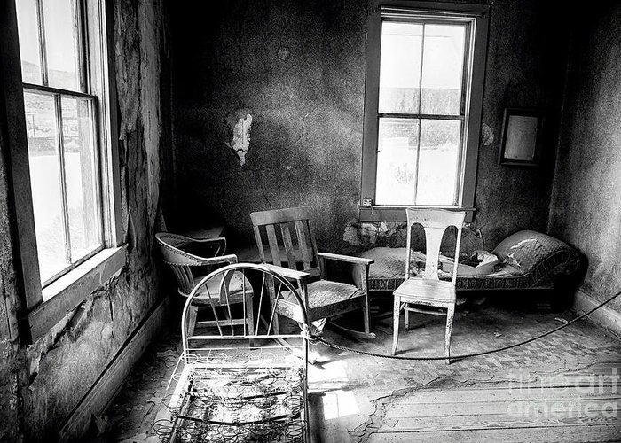 Americana Greeting Card featuring the photograph Ghost Town Still Life I by George Oze