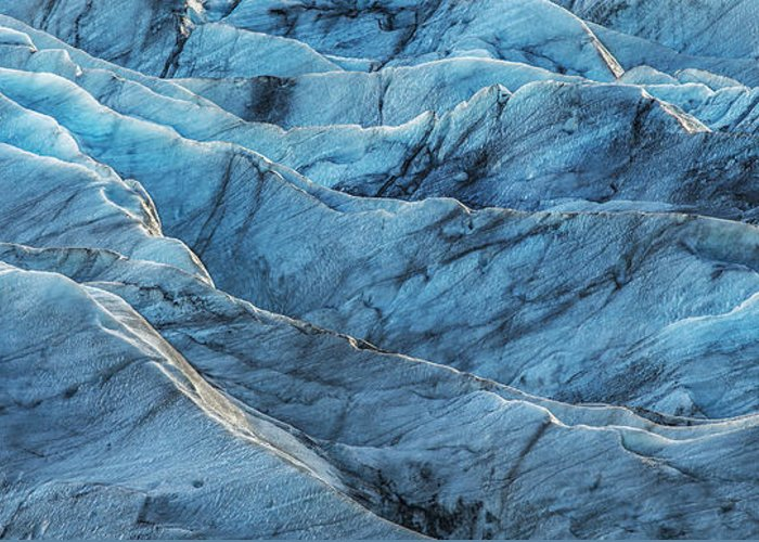Black Greeting Card featuring the photograph Glacier Blue by Jon Glaser