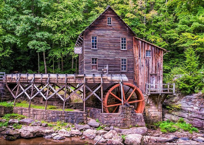Mill Greeting Card featuring the photograph Glade Creek Grist Mill by Steve Harrington