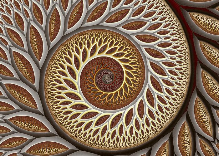 Abstract Greeting Card featuring the digital art Glynn Spiral No. 2 by Mark Eggleston