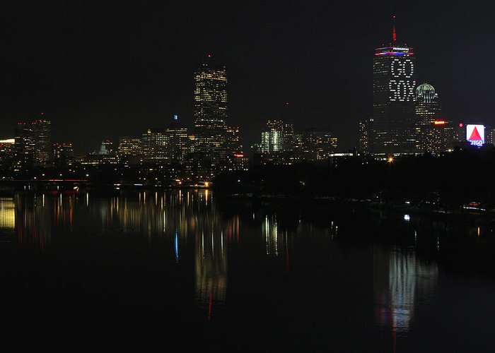 Boston Greeting Card featuring the photograph Go Sox by Juergen Roth