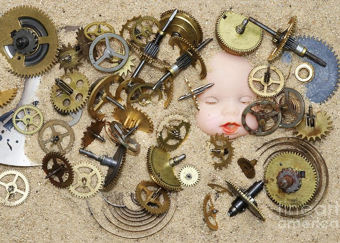Clockwork Greeting Card featuring the photograph Gof Of Time by Michal Boubin