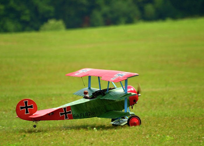 Radio Controlled Air Plane Greeting Card featuring the photograph Going Up by Thomas Young