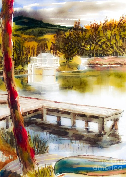 Golden Afternoon Greeting Card featuring the painting Golden Afternoon by Kip DeVore