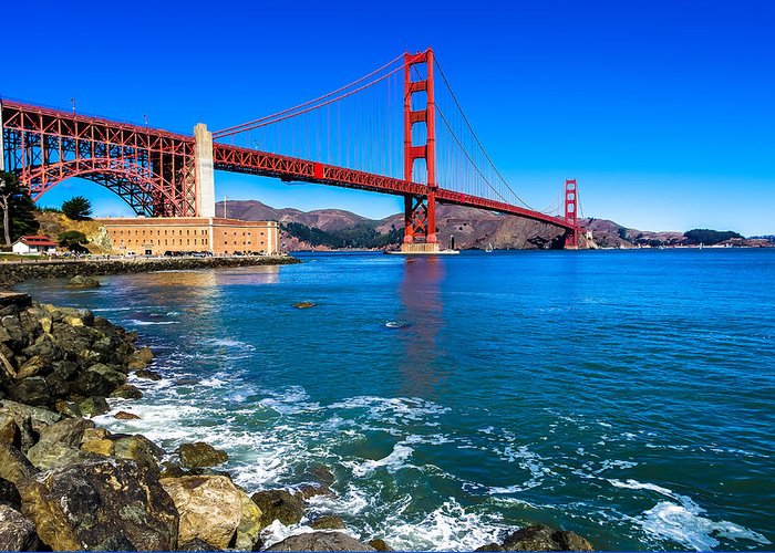 California Greeting Card featuring the photograph Golden Gate Bridge San Francisco Bay by Scott McGuire