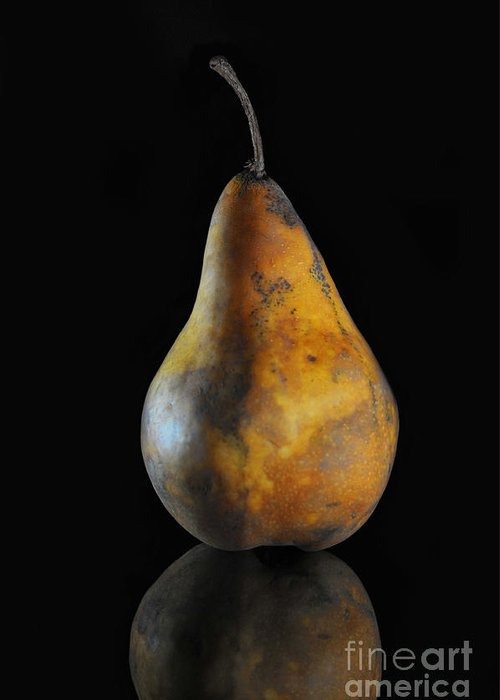 Pear Greeting Card featuring the photograph Golden Pear by Dan Holm
