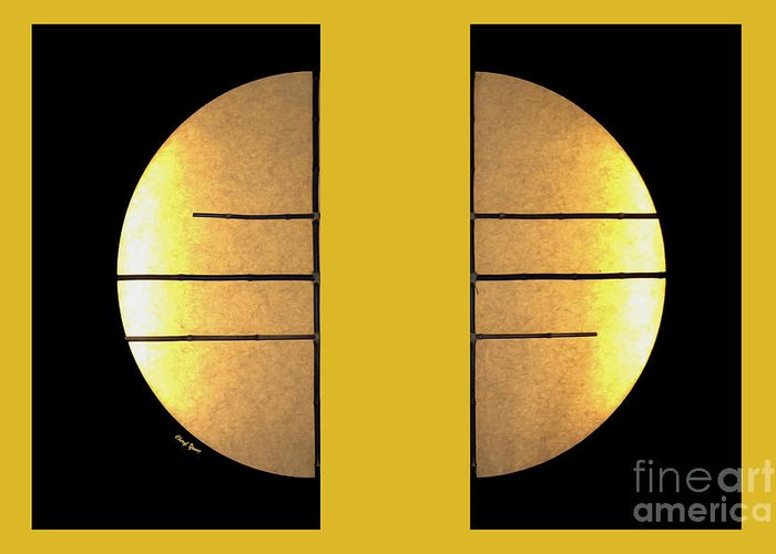 Bamboo Sun Images Greeting Card featuring the photograph Golden Sun Diptych by Cheryl Young
