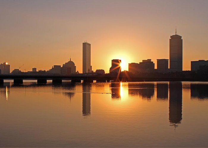 Boston Greeting Card featuring the photograph Good Morning Boston by Juergen Roth