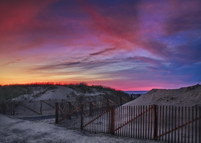 Scenic Greeting Card featuring the photograph Good Night Cape Cod by Susan Candelario