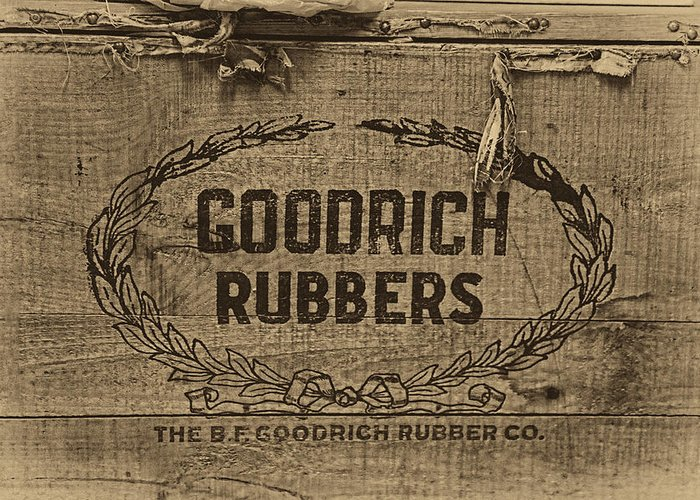 Rubbers Greeting Card featuring the photograph Goodrich Rubbers Boot Box by Tom Mc Nemar