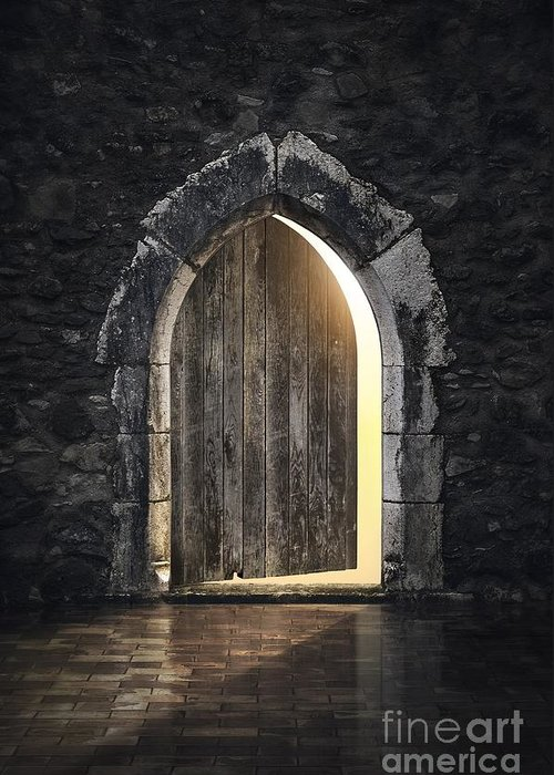 Dungeon Greeting Card featuring the photograph Gothic Light by Carlos Caetano