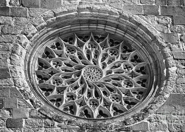 Gothic Greeting Card featuring the photograph Gothic Rosette by Jose Elias - Sofia Pereira