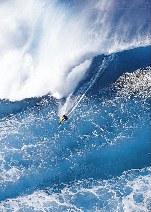 Big Wave Surfing Greeting Card featuring the photograph Grace Under Pressure by Sean Davey
