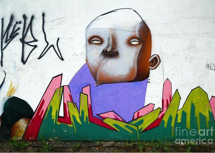 Graffiti Greeting Card featuring the photograph Graffiti Art Curitiba Brazil 17 by Bob Christopher